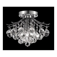 Elegant Lighting Toureg 3 Light Flush Mount in Chrome with Swarovski Strass Clear Crystal 8000F12C/SS