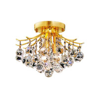 Elegant Lighting 8000F12G/SS Toureg 3 Light 12 inch Gold Flush Mount Ceiling Light in Swarovski Strass alternative photo thumbnail