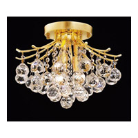 Elegant Lighting Toureg 3 Light Flush Mount in Gold with Swarovski Strass Clear Crystal 8000F12G/SS