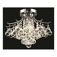 Elegant Lighting Toureg 3 Light Flush Mount in Chrome with Elegant Cut Clear Crystal 8000F16C/EC