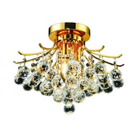 Elegant Lighting Toureg 3 Light Flush Mount in Gold with Royal Cut Clear Crystal 8000F16G/RC alternative photo thumbnail