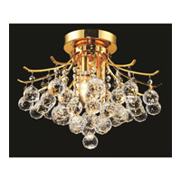 Elegant Lighting Toureg 3 Light Flush Mount in Gold with Swarovski Strass Clear Crystal 8000F16G/SS