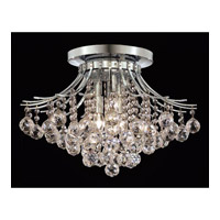 Elegant Lighting Toureg 6 Light Flush Mount in Chrome with Swarovski Strass Clear Crystal 8000F19C/SS