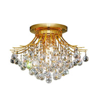 Elegant Lighting Toureg 6 Light Flush Mount in Gold with Royal Cut Clear Crystal 8000F19G/RC alternative photo thumbnail