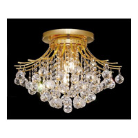 Elegant Lighting Toureg 6 Light Flush Mount in Gold with Swarovski Strass Clear Crystal 8000F19G/SS