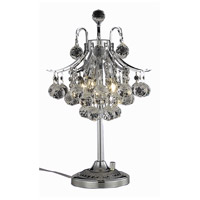 Elegant Lighting Toureg 3 Light Table Lamp in Chrome with Swarovski Strass Clear Crystal 8000TL13C/SS