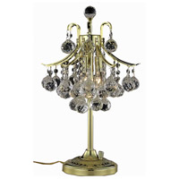Elegant Lighting Toureg 3 Light Table Lamp in Gold with Royal Cut Clear Crystal 8000TL13G/RC