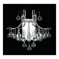Elegant Lighting Toureg 3 Light Wall Sconce in Chrome with Swarovski Strass Clear Crystal 8000W16C/SS