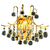 Elegant Lighting Toureg 3 Light Wall Sconce in Gold with Swarovski Strass Clear Crystal 8000W16G/SS