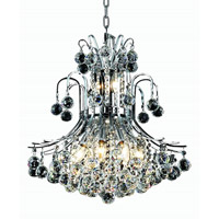Elegant Lighting Toureg 10 Light Dining Chandelier in Chrome with Swarovski Strass Clear Crystal 8001D19C/SS alternative photo thumbnail