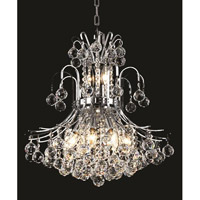 Elegant Lighting Toureg 10 Light Dining Chandelier in Chrome with Elegant Cut Clear Crystal 8001D19C/EC