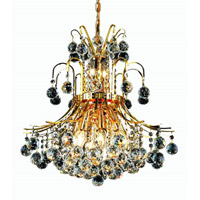 Elegant Lighting Toureg 10 Light Dining Chandelier in Gold with Royal Cut Clear Crystal 8001D19G/RC alternative photo thumbnail