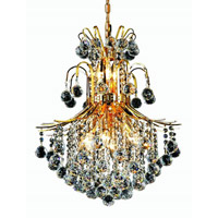 Elegant Lighting Toureg 11 Light Dining Chandelier in Gold with Royal Cut Clear Crystal 8002D22G/RC alternative photo thumbnail