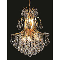 Elegant Lighting Toureg 11 Light Dining Chandelier in Gold with Swarovski Strass Clear Crystal 8002D22G/SS