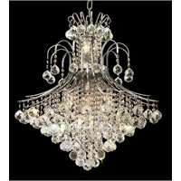 Elegant Lighting Toureg 15 Light Dining Chandelier in Chrome with Royal Cut Clear Crystal 8003D25C/RC