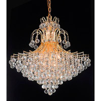 Elegant Lighting Toureg 15 Light Foyer in Gold with Royal Cut Clear Crystal 8005G31G/RC