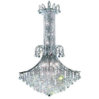 Elegant Lighting Toureg 16 Light Foyer in Chrome with Swarovski Strass Clear Crystal 8006G35C/SS