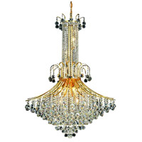Elegant Lighting Toureg 16 Light Foyer in Gold with Swarovski Strass Clear Crystal 8006G35G/SS