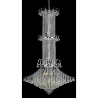 Elegant Lighting Toureg 20 Light Foyer in Chrome with Swarovski Strass Clear Crystal 8008G44C/SS