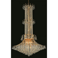 Elegant Lighting Toureg 20 Light Foyer in Gold with Swarovski Strass Clear Crystal 8008G44G/SS