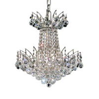 Elegant Lighting V8031D16C/RC Victoria 4 Light 16 inch Chrome Dining Chandelier Ceiling Light in Royal Cut alternative photo thumbnail
