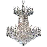 Elegant Lighting V8031D16C/RC Victoria 4 Light 16 inch Chrome Dining Chandelier Ceiling Light in Royal Cut photo thumbnail
