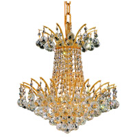 Elegant Lighting Victoria 4 Light Dining Chandelier in Gold with Swarovski Strass Clear Crystal 8031D16G/SS