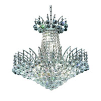 Elegant Lighting Victoria 8 Light Dining Chandelier in Chrome with Swarovski Strass Clear Crystal 8031D19C/SS alternative photo thumbnail
