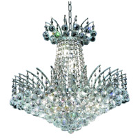 Elegant Lighting Victoria 8 Light Dining Chandelier in Chrome with Elegant Cut Clear Crystal 8031D19C/EC