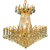 Elegant Lighting Victoria 8 Light Dining Chandelier in Gold with Elegant Cut Clear Crystal 8031D19G/EC