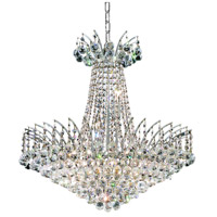 Elegant Lighting Victoria 11 Light Dining Chandelier in Chrome with Elegant Cut Clear Crystal 8031D24C/EC