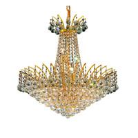 Elegant Lighting Victoria 11 Light Dining Chandelier in Gold with Elegant Cut Clear Crystal 8031D24G/EC alternative photo thumbnail
