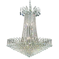 Elegant Lighting Victoria 16 Light Dining Chandelier in Chrome with Elegant Cut Clear Crystal 8031D29C/EC