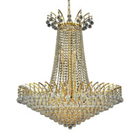 Elegant Lighting 8031D29G/SS Victoria 16 Light 29 inch Gold Dining Chandelier Ceiling Light in Swarovski Strass alternative photo thumbnail