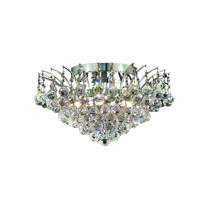 Elegant Lighting Victoria 6 Light Flush Mount in Chrome with Spectra Swarovski Clear Crystal 8031F16C/SA alternative photo thumbnail