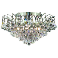 Victoria 6 Light 16 inch Chrome Flush Mount Ceiling Light in Elegant Cut