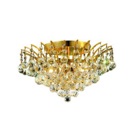 Elegant Lighting 8031F16G/SS Victoria 6 Light 16 inch Gold Flush Mount Ceiling Light in Swarovski Strass alternative photo thumbnail