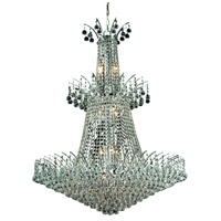 Elegant Lighting Victoria 18 Light Foyer in Chrome with Elegant Cut Clear Crystal 8031G32C/EC