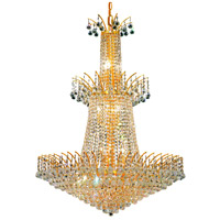 Elegant Lighting Victoria 18 Light Foyer in Gold with Swarovski Strass Clear Crystal 8031G32G/SS