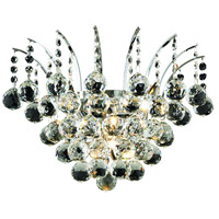 Elegant Lighting Victoria 3 Light Wall Sconce in Chrome with Elegant Cut Clear Crystal 8031W16C/EC