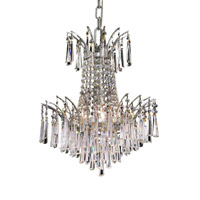Elegant Lighting Victoria 4 Light Dining Chandelier in Chrome with Royal Cut Clear Crystal 8032D16C/RC alternative photo thumbnail