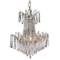 Elegant Lighting Victoria 4 Light Dining Chandelier in Chrome with Royal Cut Clear Crystal 8032D16C/RC photo thumbnail