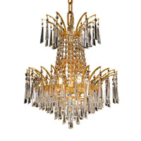 Elegant Lighting Victoria 4 Light Dining Chandelier in Gold with Royal Cut Clear Crystal 8032D16G/RC alternative photo thumbnail