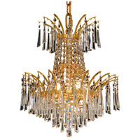 Elegant Lighting Victoria 4 Light Dining Chandelier in Gold with Elegant Cut Clear Crystal 8032D16G/EC
