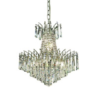 Elegant Lighting Victoria 8 Light Dining Chandelier in Chrome with Swarovski Strass Clear Crystal 8032D19C/SS alternative photo thumbnail