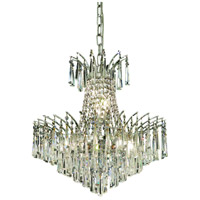 Elegant Lighting Victoria 8 Light Dining Chandelier in Chrome with Elegant Cut Clear Crystal 8032D19C/EC