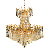 Elegant Lighting Victoria 8 Light Dining Chandelier in Gold with Elegant Cut Clear Crystal 8032D19G/EC