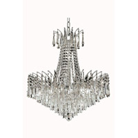 Elegant Lighting Victoria 11 Light Dining Chandelier in Chrome with Royal Cut Clear Crystal 8032D24C/RC