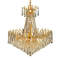 Elegant Lighting Victoria 11 Light Dining Chandelier in Gold with Swarovski Strass Clear Crystal 8032D24G/SS alternative photo thumbnail