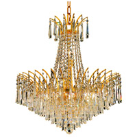 Elegant Lighting Victoria 11 Light Dining Chandelier in Gold with Swarovski Strass Clear Crystal 8032D24G/SS photo thumbnail